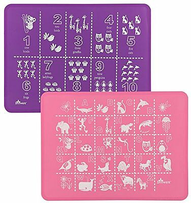Brinware Placemat Set - ABC & 123 - Pink/Purple