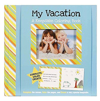 C.R. Gibson My Vacation Keepsake Coloring Book by Erynn Rice