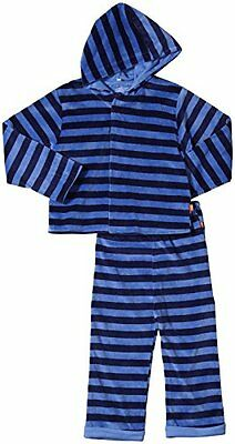 Magnificent Baby Baby Boys' Velour Hoodie and Pants, Midnight/Sky, 3T