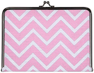 C.R. Gibson Canvas Photo Clutch, Chevron