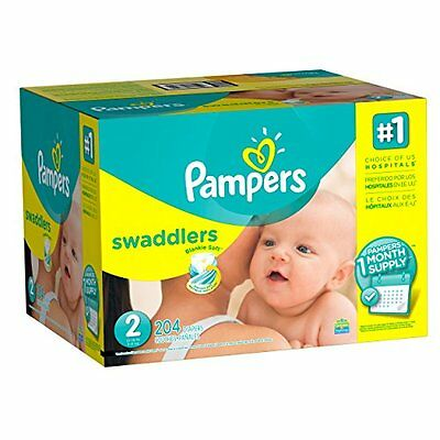 Pampers Swaddlers Diapers, Size 2, One Month Supply, 204 Cou