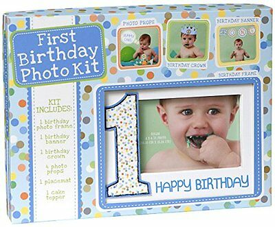 C.R. Gibson First Birthday Photo Kit, Birthday Boy