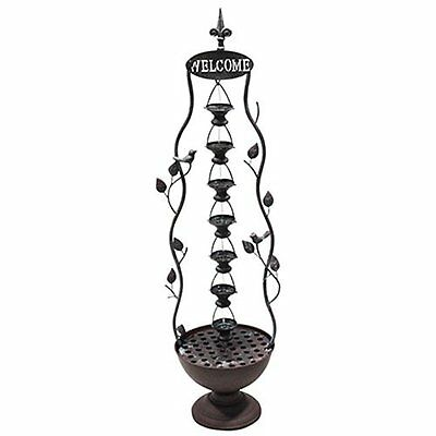 Alpine MAZ256 7 Hanging Cup Tier Layered Floor Fountain, 41""