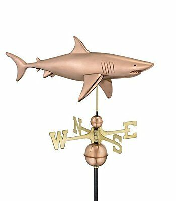 Good Directions 965P Shark Weathervane, Copper