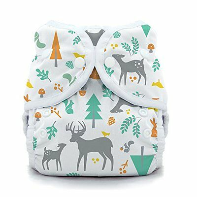 Thirsties Snap Duo Wrap, Woodland, Size One (6-18 lbs)