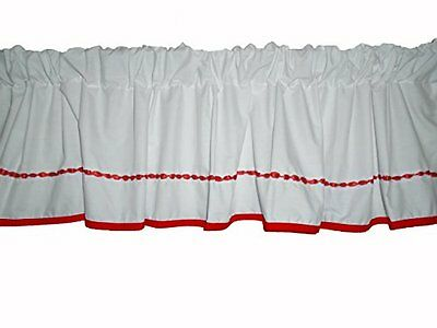 Baby Doll Bedding Unique Window Valance, Red