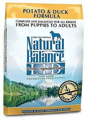 Natural Balance Dry Dog Food, Grain Free Limited Ingredient Diet Duck and P