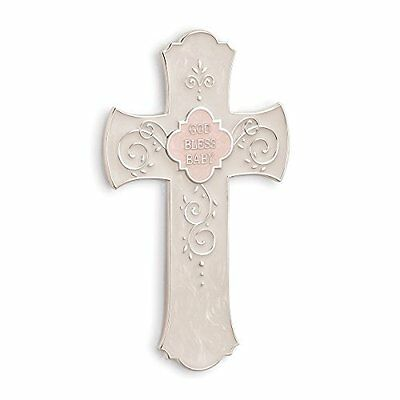 Nat and Jules Pink God Bless Baby Hanging Cross
