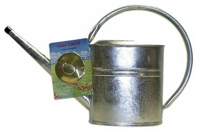 Haws V139 Slimcan Galvanized Watering Can with Round Rose, 2-Gallon/8-Liter