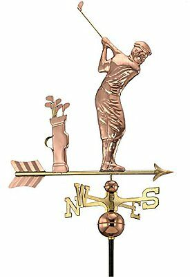 Good Directions 561P Golfer Weathervane, Polished Copper