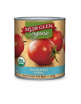 Muir Glen Organic Tomato Puree, 28-Ounce Cans (Pack of 12)