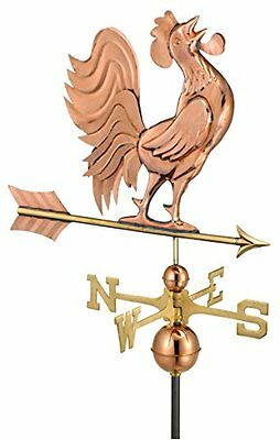 Good Directions 637P Crowing Rooster Weathervane, Polished Copper