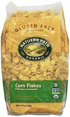 Nature's Path Organic Corn Flakes Cereal  Fruit Juice Sweetened, 26.4-Ounce