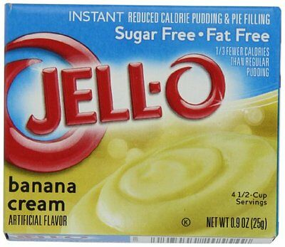 Jell-O Sugar-Free Instant Pudding & Pie Filling, Banana Cream, 0.9-Ounce Bo