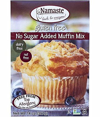 Namaste Foods, Gluten Free Sugar Free Muffin Mix, 14-Ou,nce Bags (Pack of 6