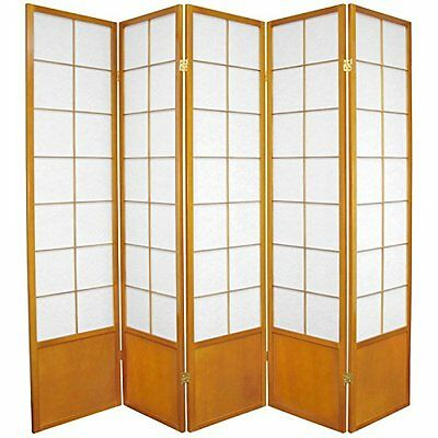 Oriental Furniture Asian Oriental Design Folding Floor Dividing Partition,