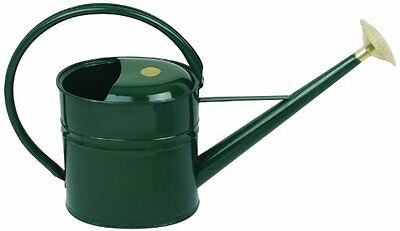 Haws V136 Slimcan Metal Outdoor Watering Can, 2-Gallon/8-Liter, Green