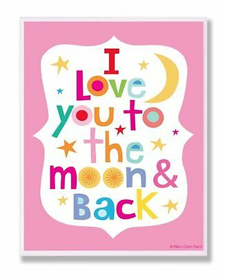 The Kids Room by Stupell I Love You to the Moon and Back on