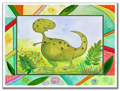 The Kids Room by Stupell Green Dinosaur Rectangle Wall Plaqu