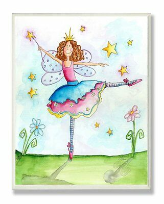 The Kids Room by Stupell Twinkle Toes Ballerina Fairy Rectan