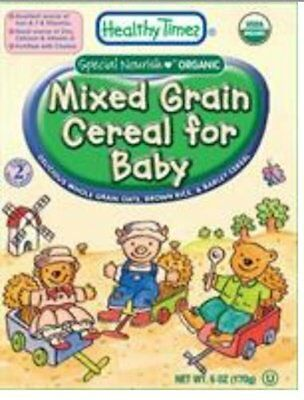 Healthy Times Organic Mixed Grain Cereal for Baby, 6-Ounce Boxes (Pack of 1