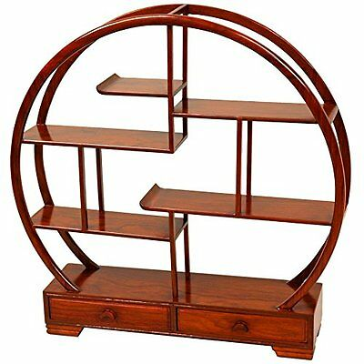 Oriental Furniture Great for Collections, 19-Inch Fine Hardwood Mingei Japa