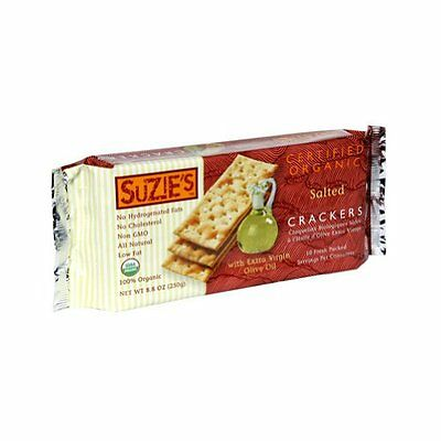 Suzie's 100% Organic Crackers, Salted with Extra Virgin Olive Oil, 8.8-Ounc
