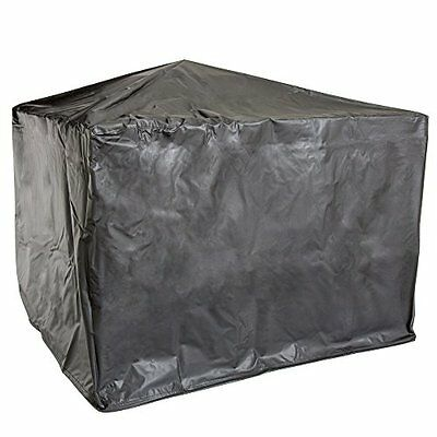 """Pure Garden 50-104 30"""" Square Fire Pit and Table with Cover, Black"""