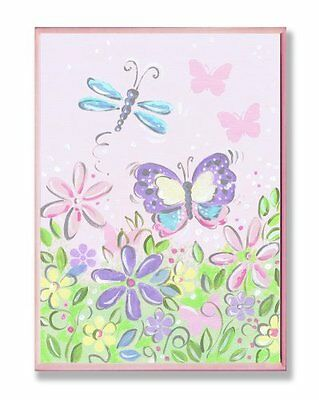 The Kids Room by Stupell Pastel Butterfly and Dragonfly Rect