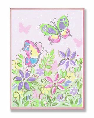 The Kids Room by Stupell Pastel Butterflies and Flowers Rect