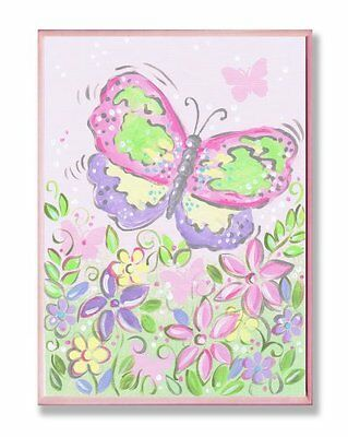 The Kids Room by Stupell Large Pastel Butterfly and Flowers
