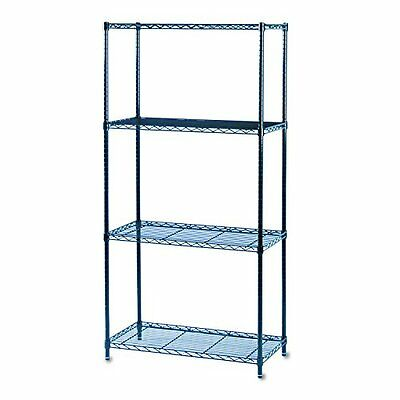 Safco 5276BL Black Commercial Wire Shelving, 36 by 18-Inch