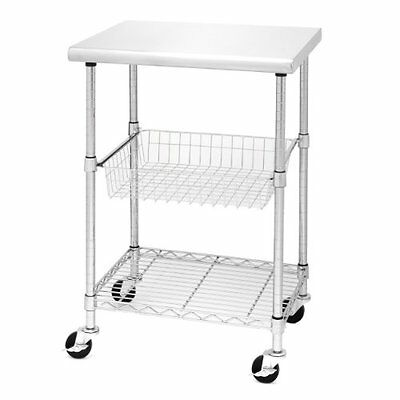 Seville Classics SHE18321 Stainless Steel Kitchen Workstation