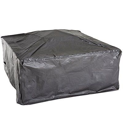 """Pure Garden 50-107 33"""" Square Tile Fire Pit with Cover"""