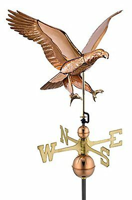 Good Directions 659P Attack Eagle Weathervane, Polished Copper