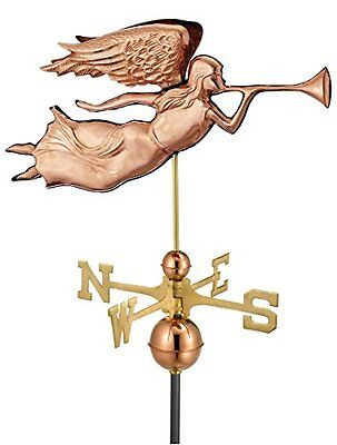 Good Directions 630P Angel Weathervane, Polished Copper