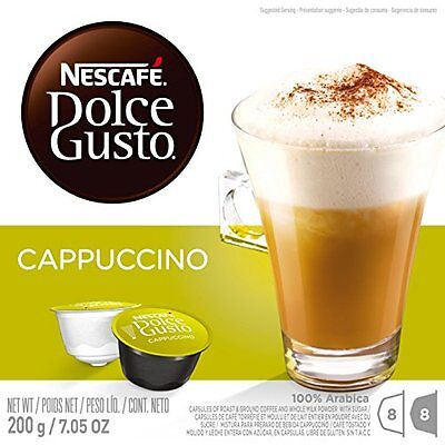 Nescafe Dolce Gusto for Nescafe Dolce Gusto Brewers, Cappuccino, 16 Count (
