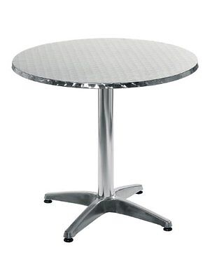 Euro Style Allan 31.5 Round Table in Stainless Steel and Aluminum