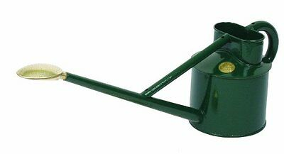 Haws V140G Professional Metal Watering Can, 0.9-Gallon/3.5-Liter, Green