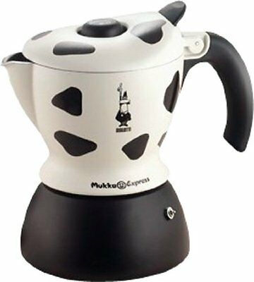 Bialetti Mukka Express 1-Cup Cow-Print Stovetop Cappuccino Maker