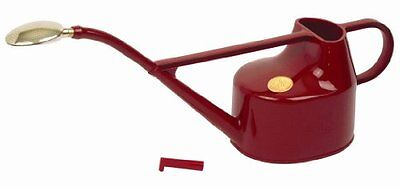 Haws V101 Deluxe Plastic Watering Can, 1.3-Gallon/5-Liter, Red