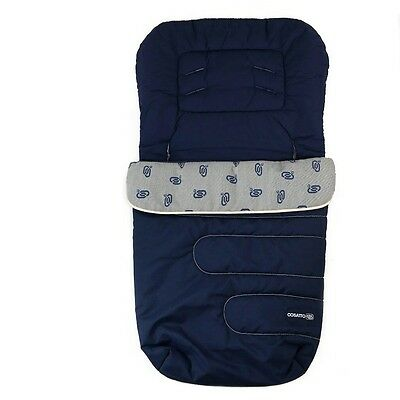 Cosatto Navy Blue Universal Baby Buggy Stroller Pushchair Footmuff Cosytoes