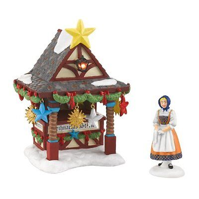 Alpine Village from Department 56 Christmas Market, Tree Topper Booth Acces