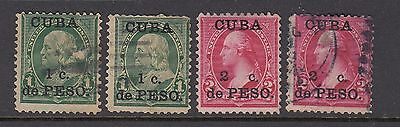 Spain (Former Colony) USA Stamps Ovpt