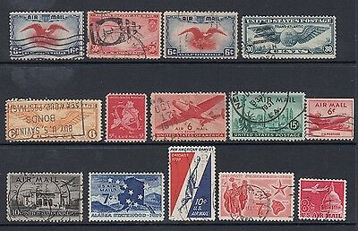 USA Nice group Airmail stamps