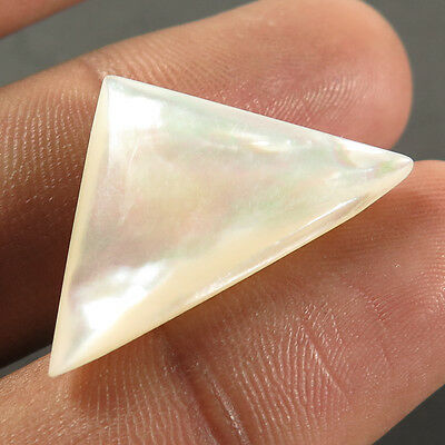 Natural MOTHER OF PEARL SHELL 27x16 mm Fancy Cabochon Jewelry Gemstone 15.30 Cts