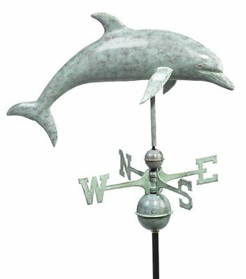 Good Directions 9507V1 Dolphin Weathervane, Blue Verde Copper
