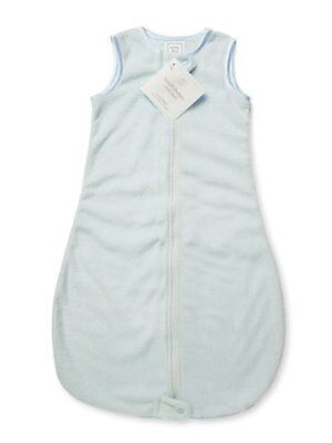 Swaddledesigns Zzzipme Sack Solid Baby Velvet, Pastel Blue, 3-6 Months