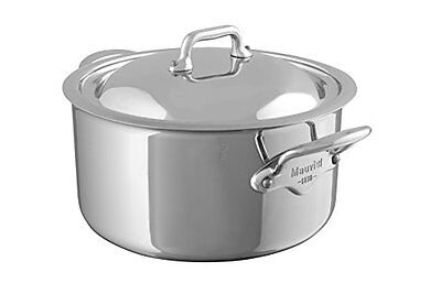 Mauviel M'Cook 5 Ply Stainless Steel 5231.25 6.4-Quart Stewpan with Lid, Ca