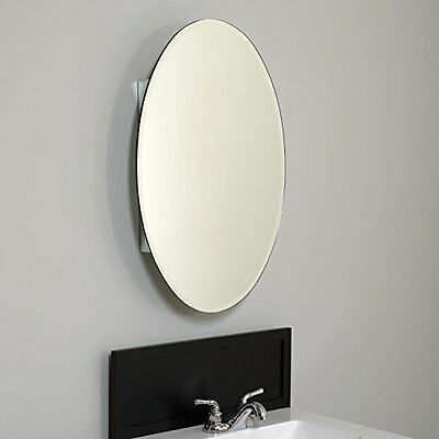 Zenith Products MVA2030 Oval Beveled Mirror Medicine Cabinet, 20-Inch